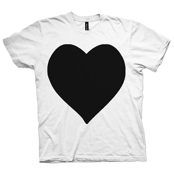 black heart t shirt
