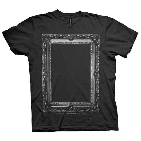 c6fd25ad Black Cat Eating Licorice at Midnight T-shirt - Poetry Black